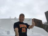 シュワルツ浅井、マックスブログ塾Tシャツ、札幌雪祭り
